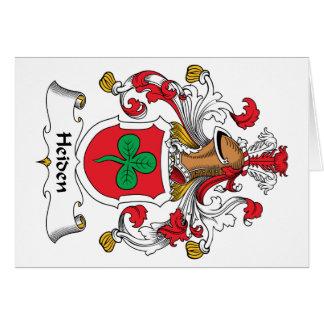 Heiden Family Crest Greeting Card
