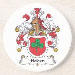 Heiden Family Crest Drink Coasters