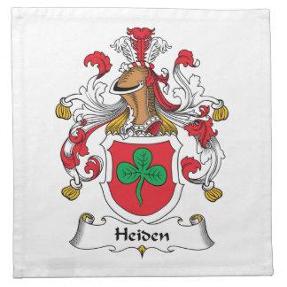 Heiden Family Crest Cloth Napkin