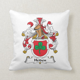 Heiden Family Crest Throw Pillows