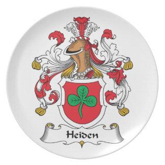 Heiden Family Crest Party Plates