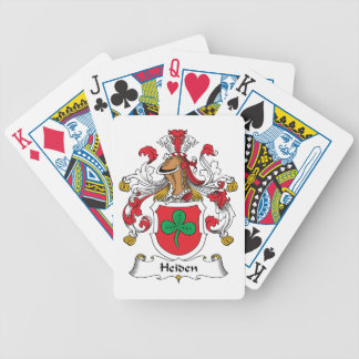 Heiden Family Crest Poker Cards