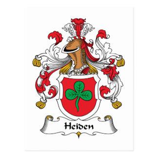 Heiden Family Crest Postcard
