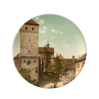 Heidenturm, Nuremberg, Baviera, Alemania Plato De Cerámica