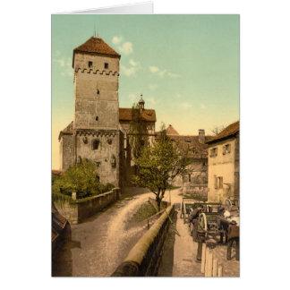 Heidenturm, Nuremberg, Baviera, Alemania Tarjeta De Felicitación