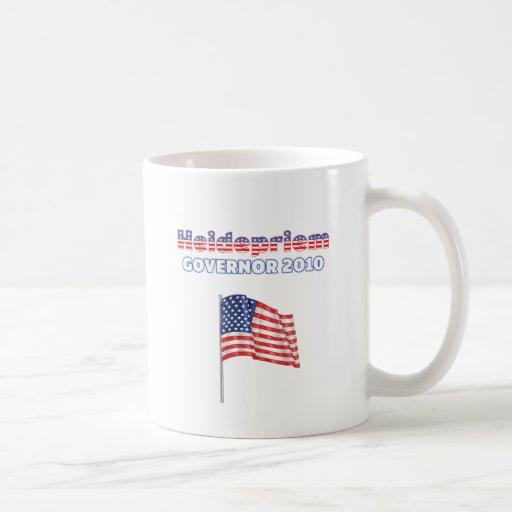 Heidepriem Patriotic American Flag 2010 Elections Classic White Coffee Mug