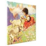 """Heidi and Her Goats"" by Jessie Willcox Smith Canvas Print"
