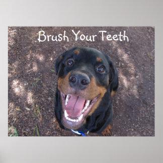 """Heidi """"cepillo poster de sus dientes"""""""