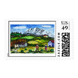 Heidi Country Postage Stamp