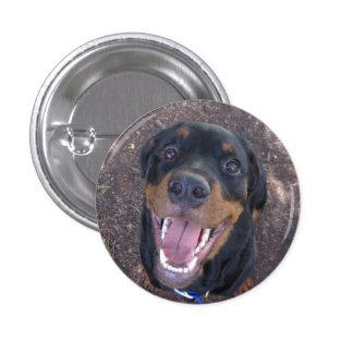 Heidi Happy Rottweiler Button