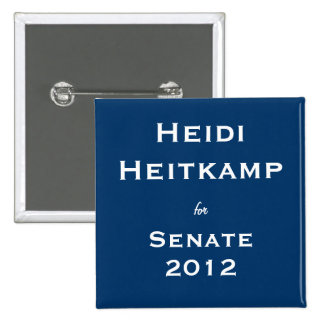 Heidi Heitkamp for Senate Button