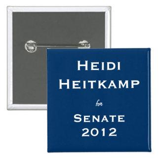Heidi Heitkamp para el senado Pin Cuadrado
