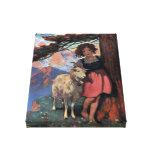 Heidi on a Mountain Top by Jessie Willcox Smith Stretched Canvas Print