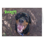 Heidi Rottweiler Puppy Burping Birthday Card