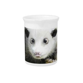 Heidi The Cross Eyed Opossum Beverage Pitcher