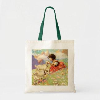 Heidi y sus cabras - bolso bolsa tela barata