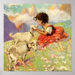 """""""Heidi y sus cabras"""" por Jessie Willcox Smith Poster"""
