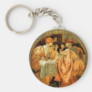 Heidsieck and Co. Vintage Mucha Champagne Keychain