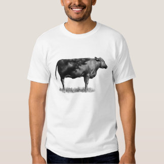 Heifer, Cow: Hand Drawn in Pencil: Realism T Shirt