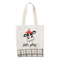 Heifer please | cute tote bag for girls and women