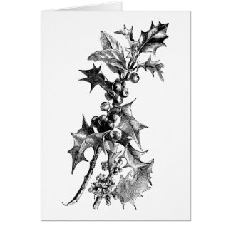 Heigh-ho the holly greeting card