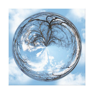 Heights of Heaven tree and sky in bubble Canvas Print