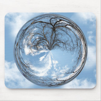 Heights of Heaven with  tree, clouds , sky, bubble Mouse Pad