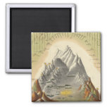 Heights Of The Principal Mountains In The World 2 2 Inch Square Magnet