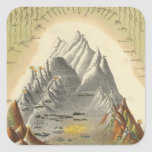 Heights Of The Principal Mountains In The World 2 Square Sticker