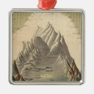 Heights Of The Principal Mountains In The World Metal Ornament