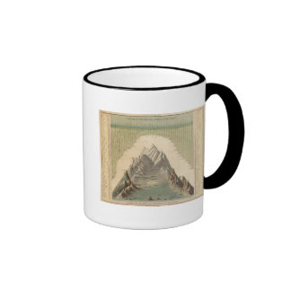 Heights Of The Principal Mountains In The World Ringer Mug