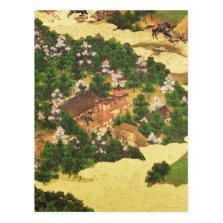 Heiji Uprising of 1159, Momoyama Period Postcard