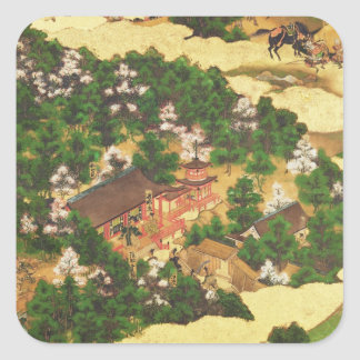 Heiji Uprising of 1159, Momoyama Period Square Sticker