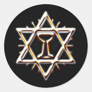 heiliger Gral holy grail Classic Round Sticker