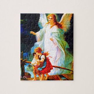 Heiliger Schutzengel  Guardian Angel and Children Jigsaw Puzzle