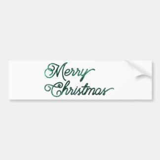 heim&lore Merry Christmas Evergreen Bumper Sticker