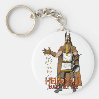 """Heimdall Runed Our Lives"" Keychain"