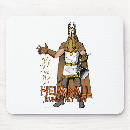 """""""Heimdall Runed Our Lives"""" Mouse Pad"""
