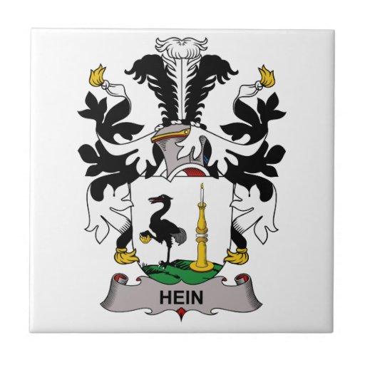 Hein Family Crest Ceramic Tiles