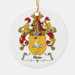 Hein Family Crest Double-Sided Ceramic Round Christmas Ornament