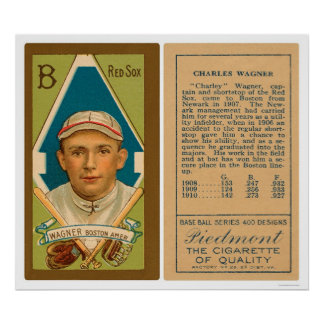 Heinie Wagner Red Sox Baseball 1911 Poster