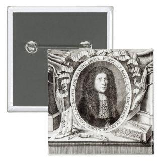 Heinrich Ignaz Franz von Biber 2 Inch Square Button