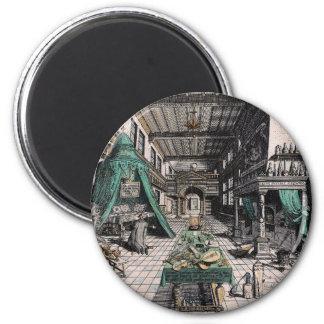 Heinrich Khunrath Magnet: Alchemist's Laboratory Magnet