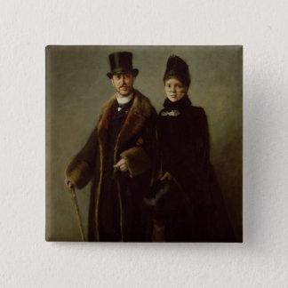Heinrich Schliemann  and his Wife Button