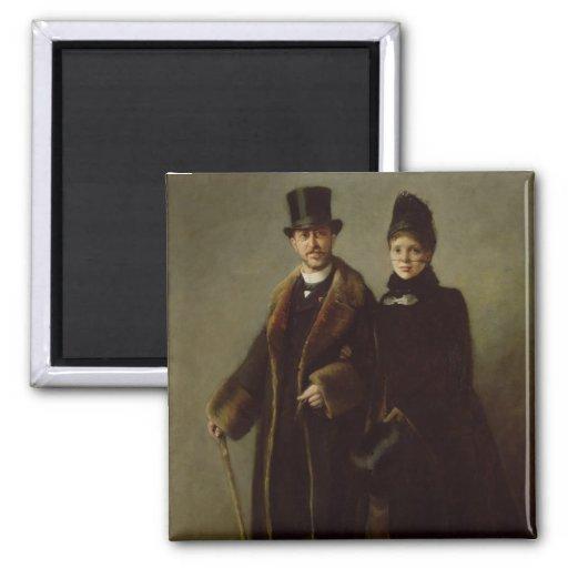 Heinrich Schliemann  and his Wife Fridge Magnet