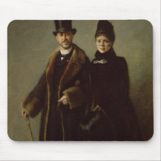 Heinrich Schliemann  and his Wife Mousepad