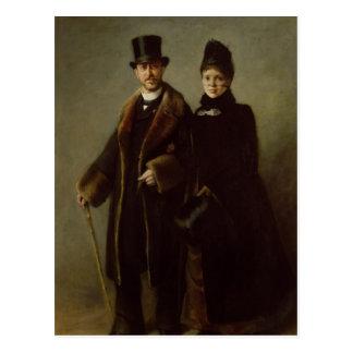 Heinrich Schliemann  and his Wife Postcard