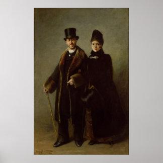 Heinrich Schliemann  and his Wife Posters