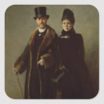 Heinrich Schliemann  and his Wife Sticker