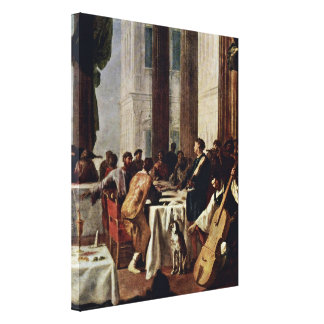 Heinrich Schonfeld - Wedding at Cana Detail Canvas Print